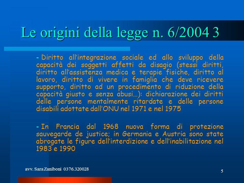 Le origini della legge n. 6/2004 3