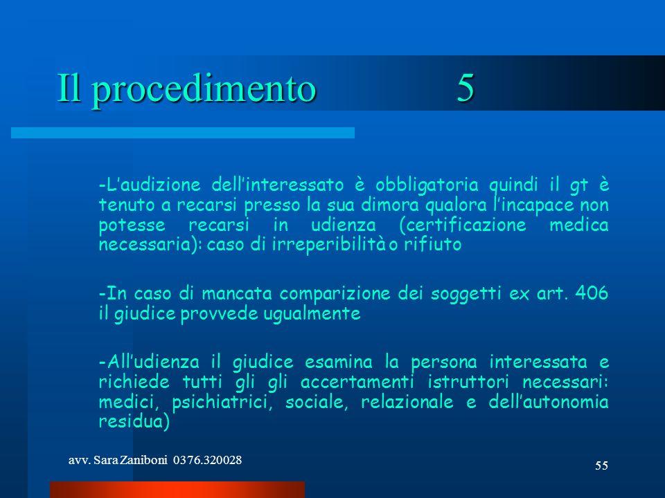 Il procedimento 5