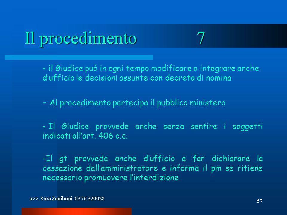 Il procedimento 7 Al procedimento partecipa il pubblico ministero