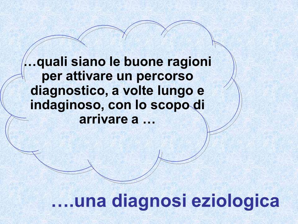 ….una diagnosi eziologica