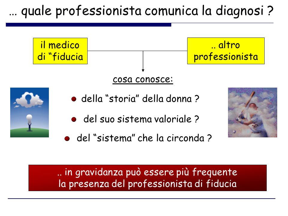 … quale professionista comunica la diagnosi
