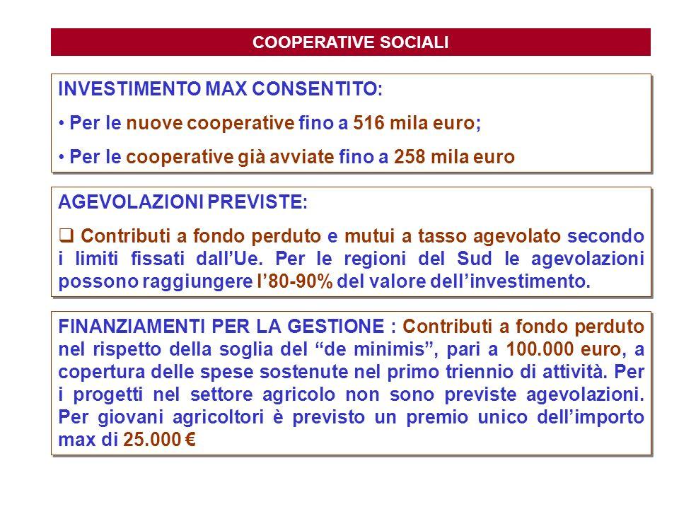 INVESTIMENTO MAX CONSENTITO: