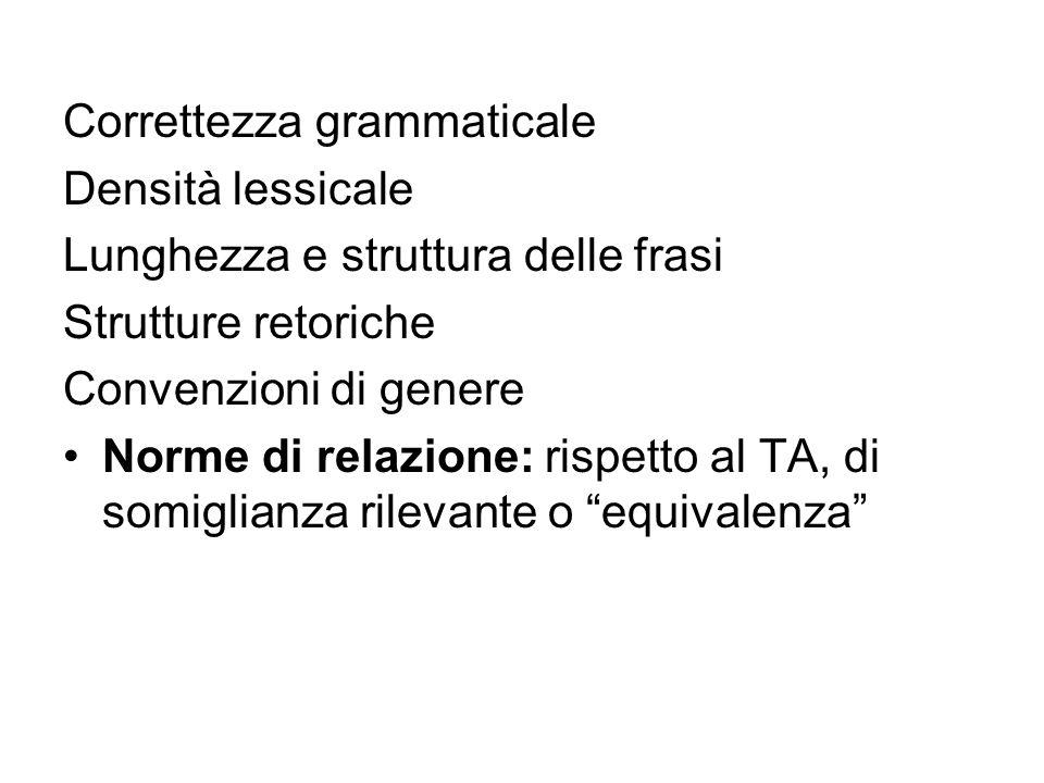 Correttezza grammaticale