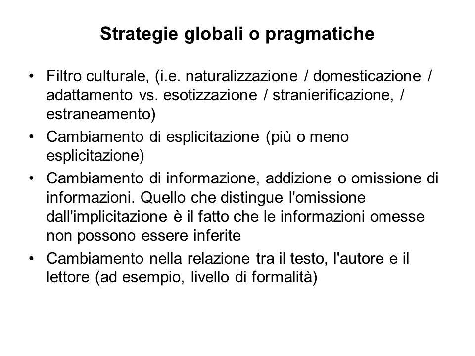 Strategie globali o pragmatiche