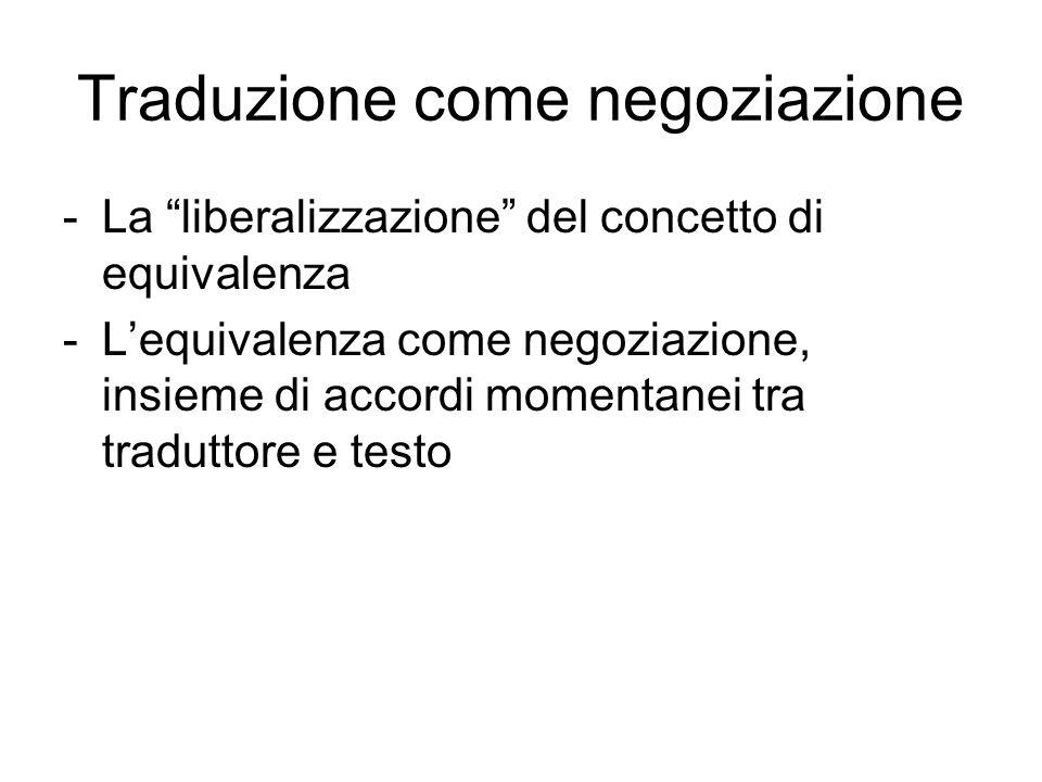 Traduzione come negoziazione