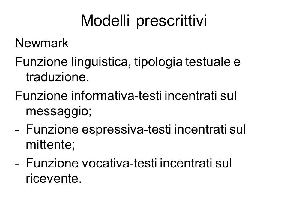 Modelli prescrittivi Newmark