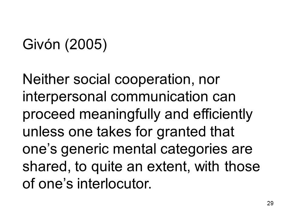 Givón (2005)