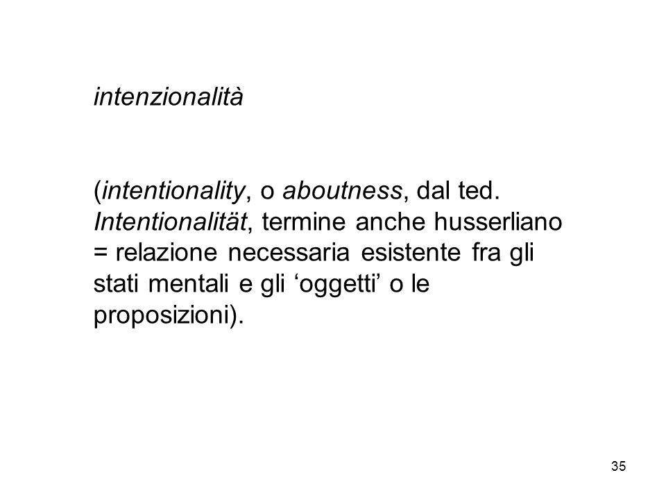 intenzionalità