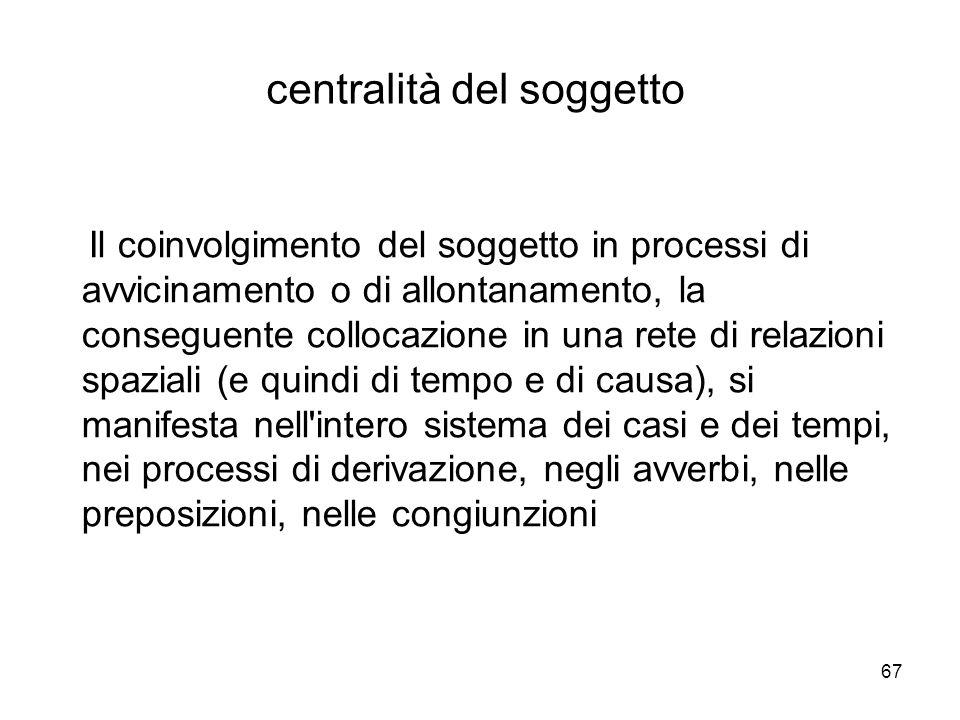 centralità del soggetto