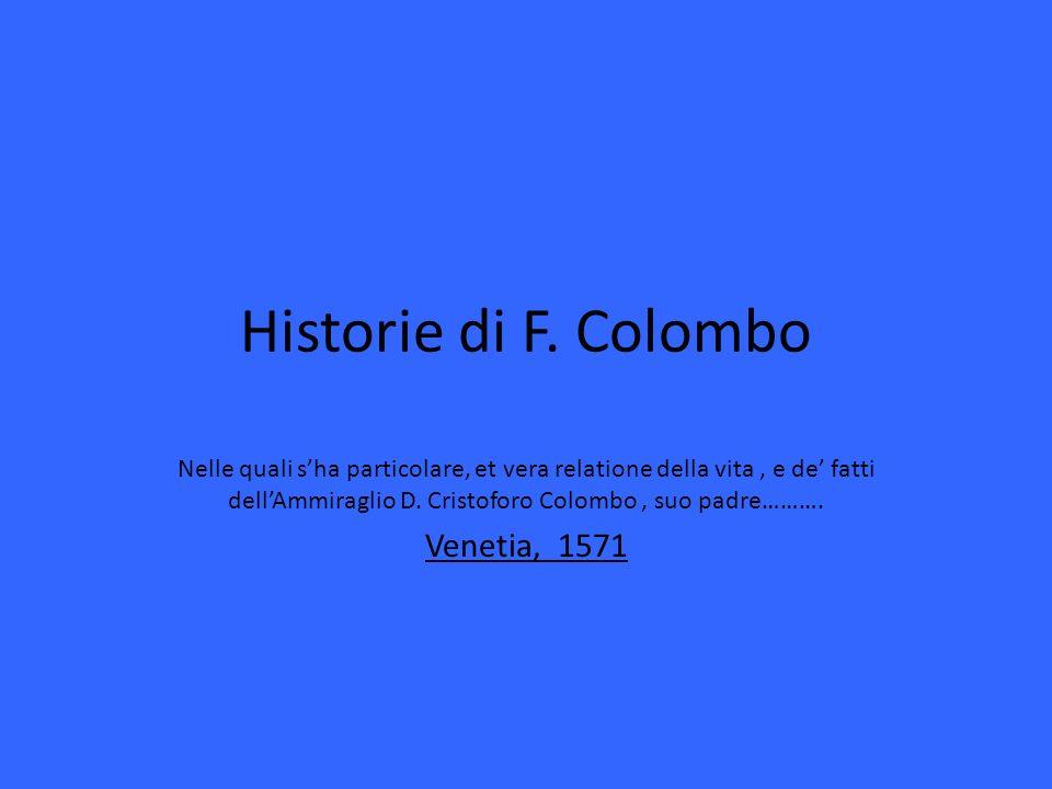 Historie di F. Colombo Venetia, 1571
