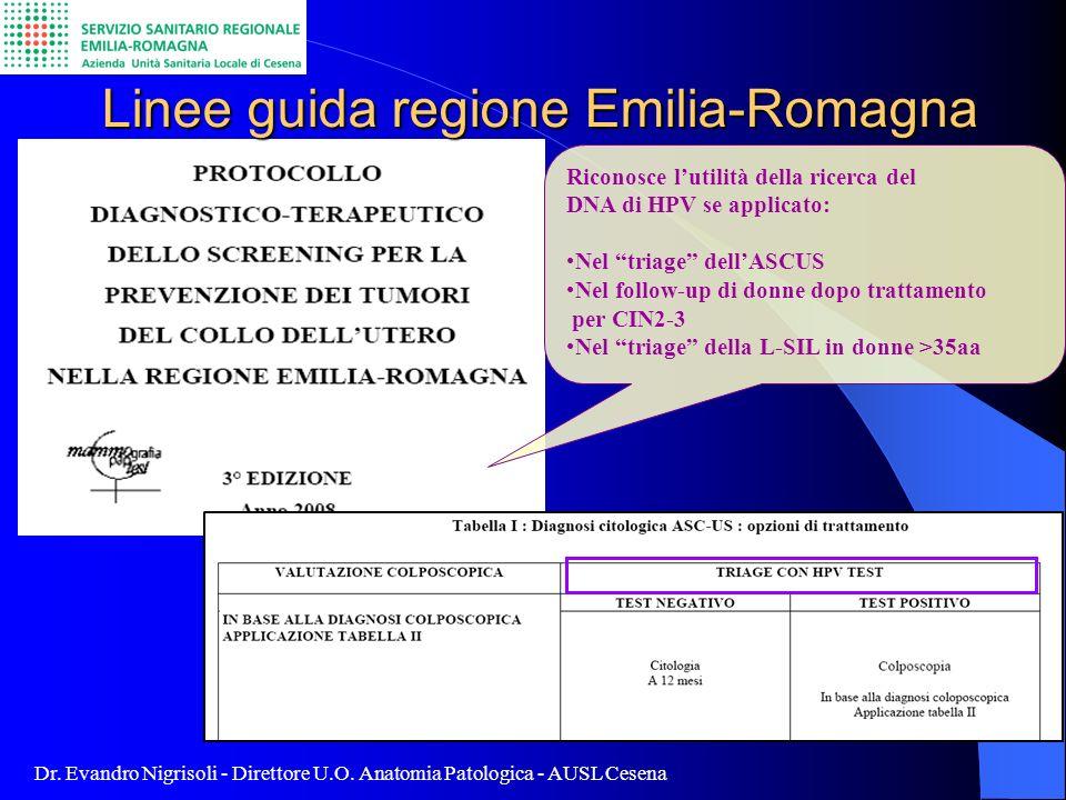 Linee guida regione Emilia-Romagna