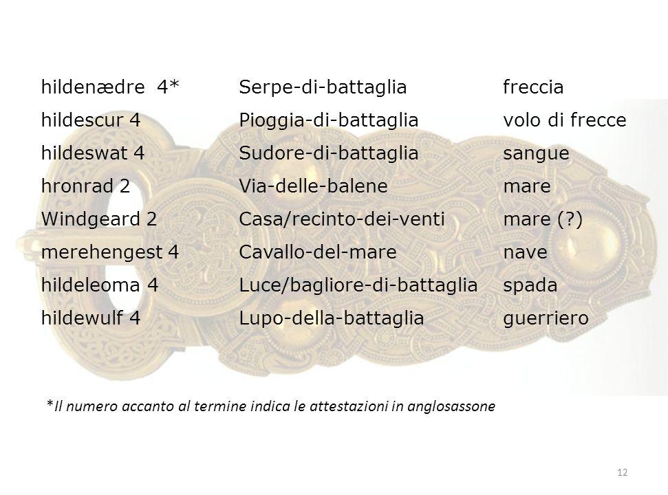 hildenædre 4* Serpe-di-battaglia freccia