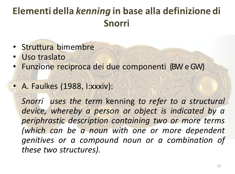 Elementi della kenning in base alla definizione di Snorri