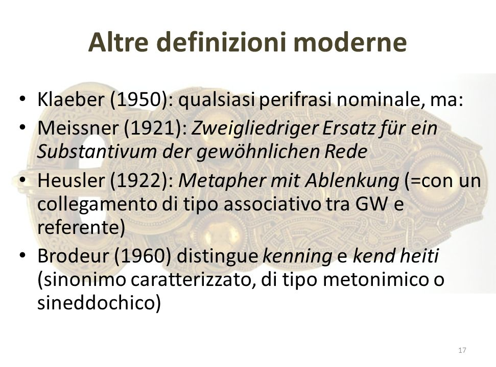 Altre definizioni moderne