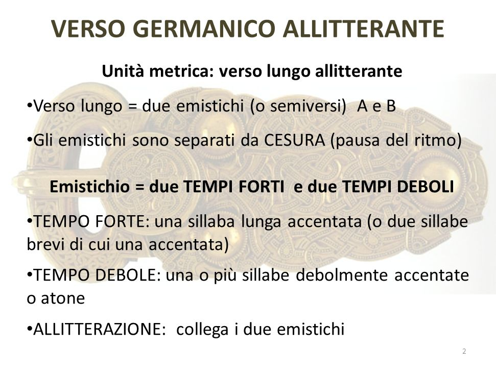 VERSO GERMANICO ALLITTERANTE