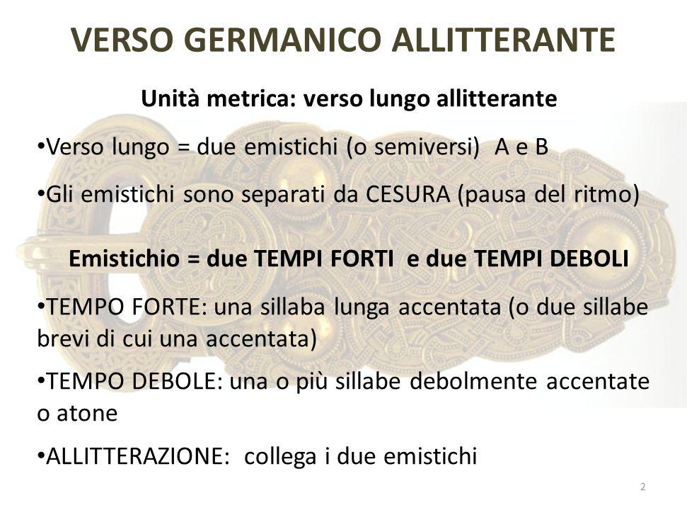 VERSO GERMANICO ALLITTERANTE
