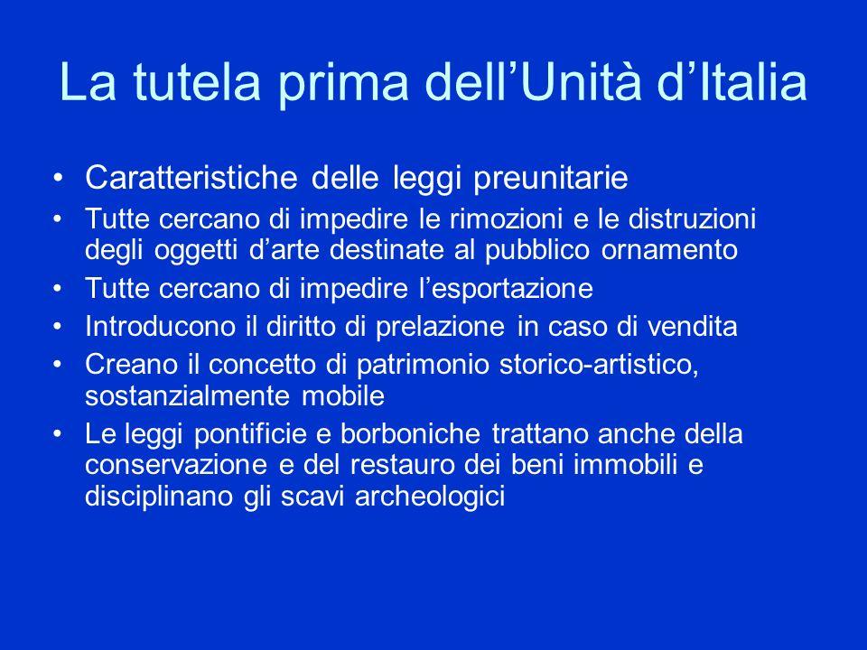 La tutela prima dell'Unità d'Italia