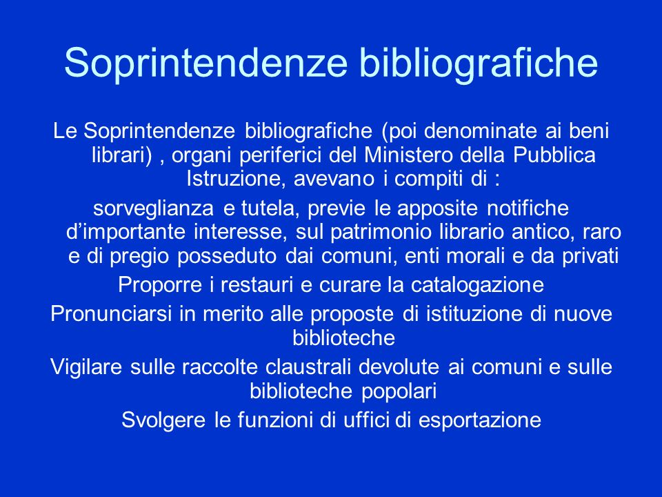 Soprintendenze bibliografiche