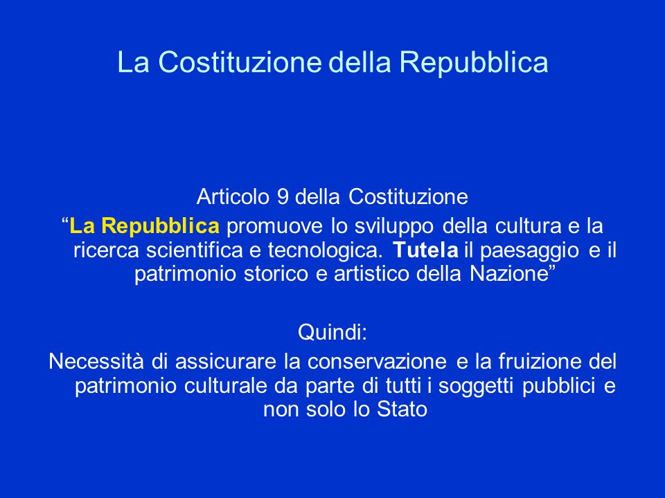 La Costituzione della Repubblica