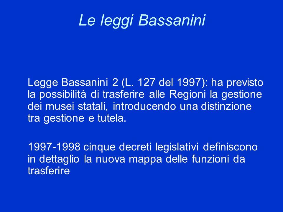 Le leggi Bassanini