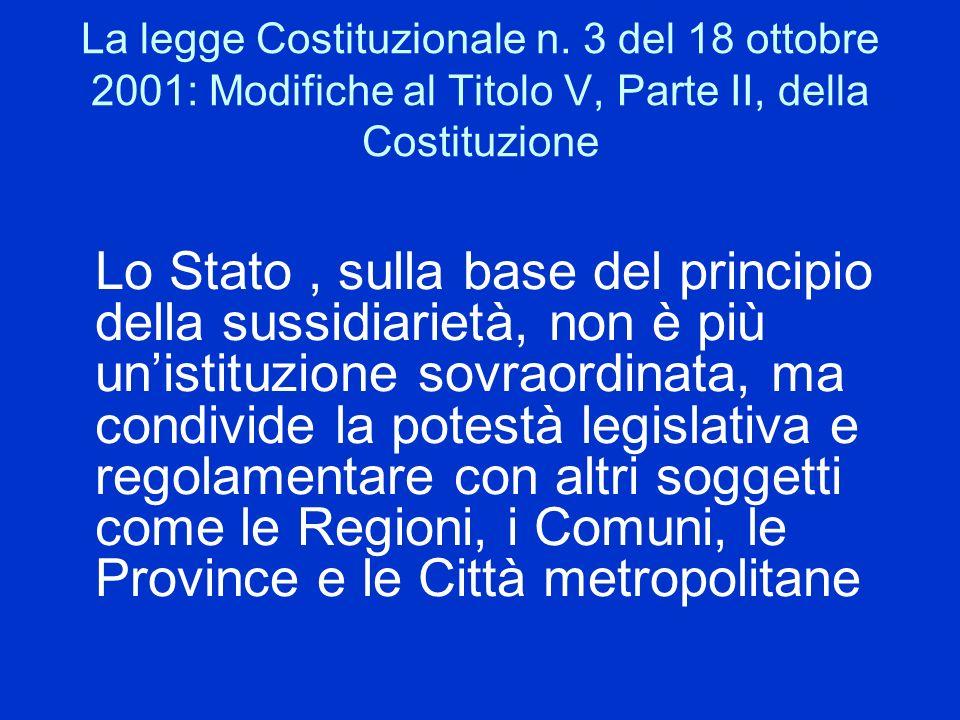 La legge Costituzionale n
