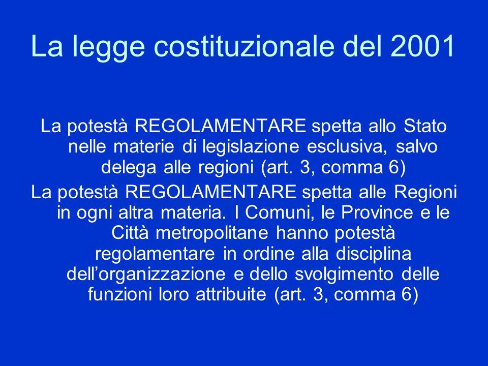 La legge costituzionale del 2001