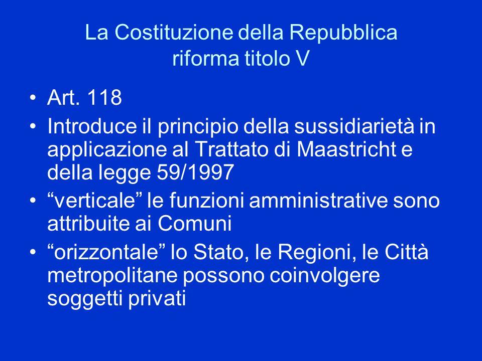 La Costituzione della Repubblica riforma titolo V