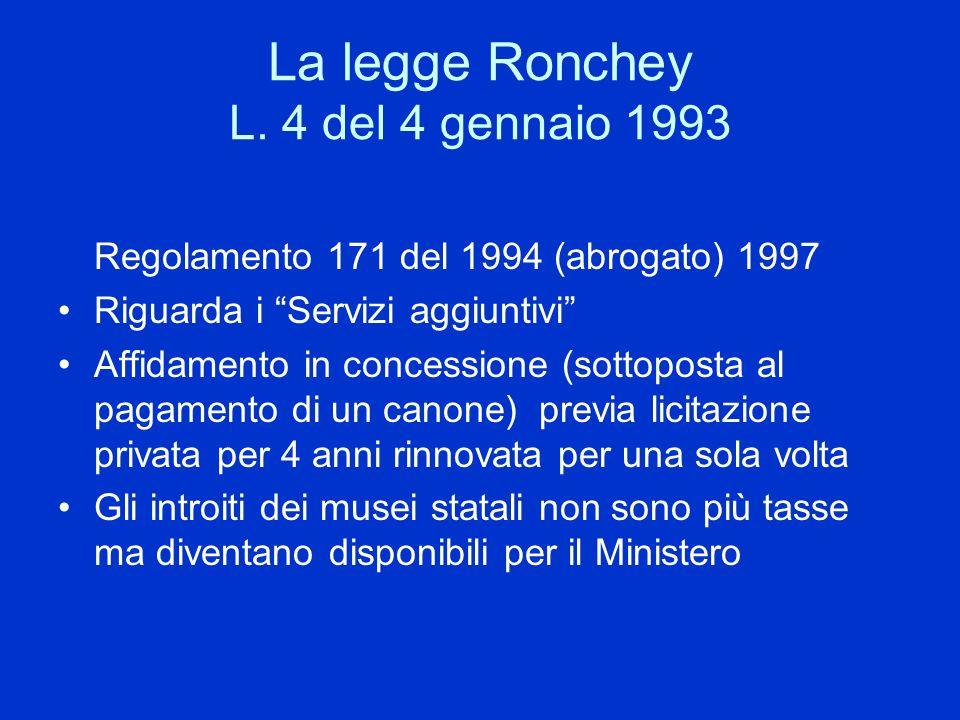 La legge Ronchey L. 4 del 4 gennaio 1993