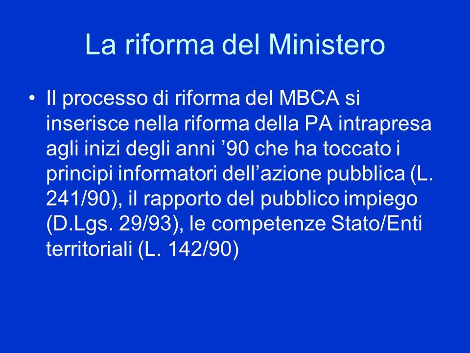 La riforma del Ministero