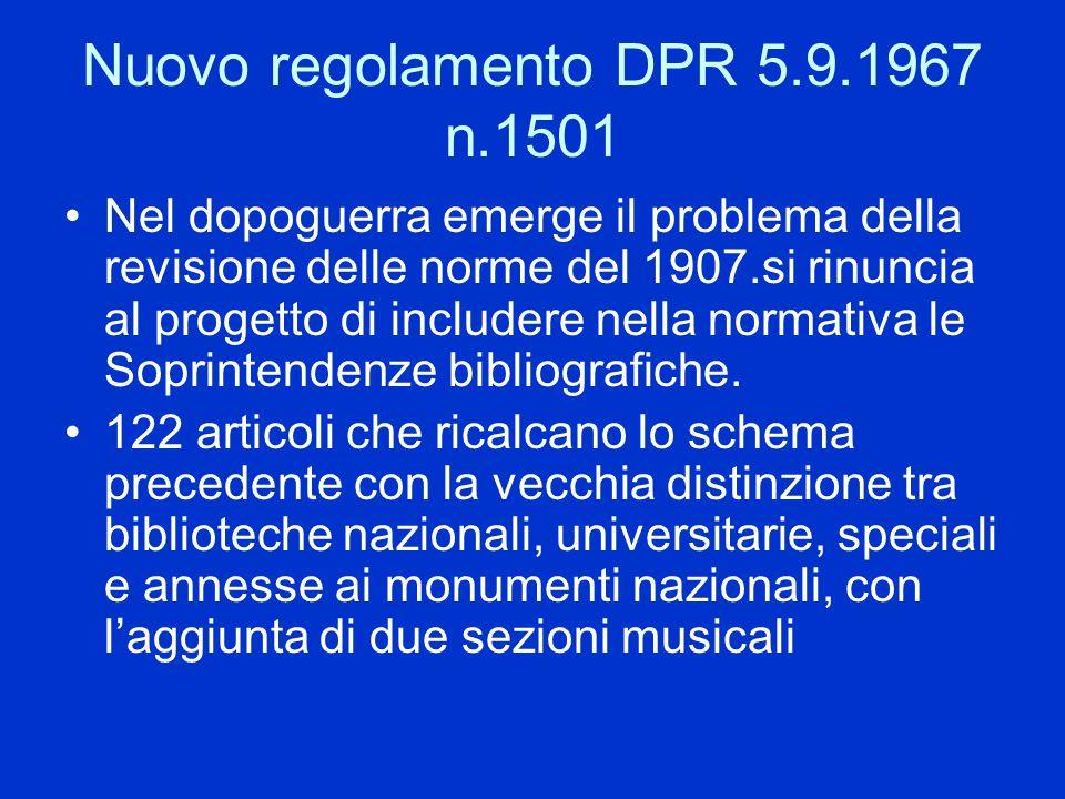 Nuovo regolamento DPR 5.9.1967 n.1501