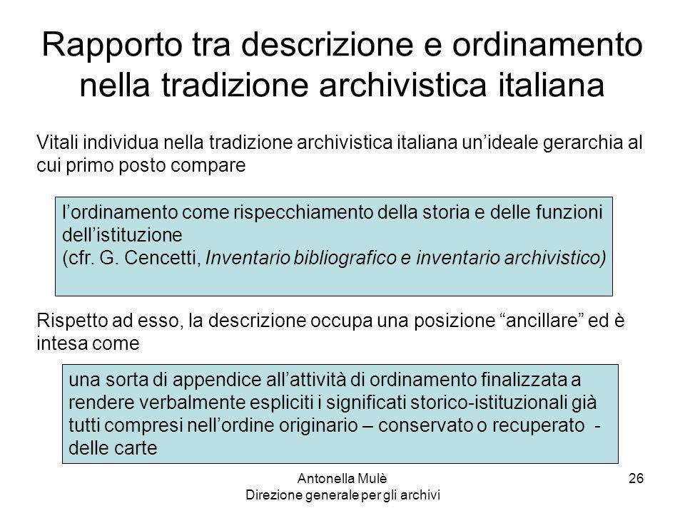 Antonella Mulè Direzione generale per gli archivi