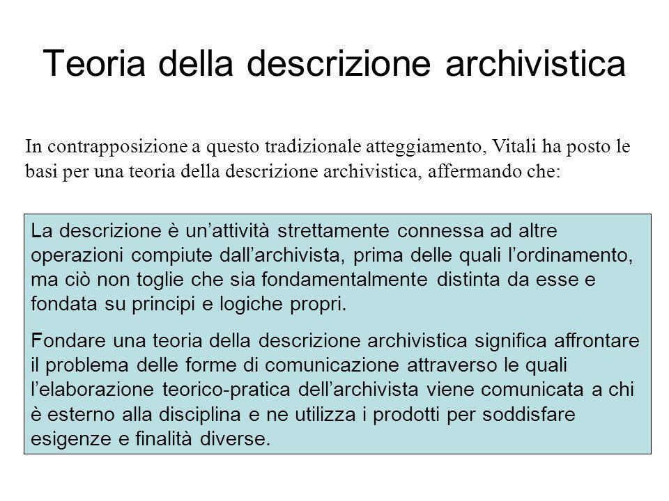 Teoria della descrizione archivistica