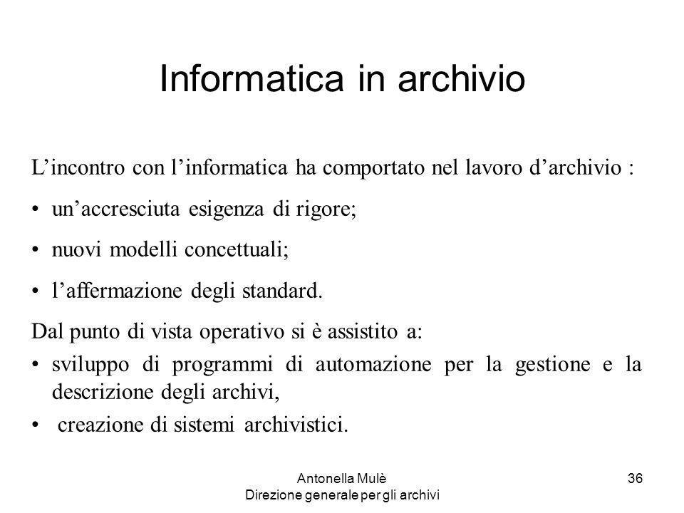Informatica in archivio
