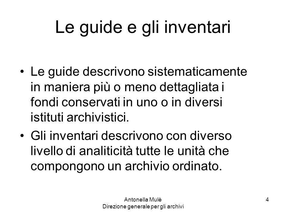 Le guide e gli inventari