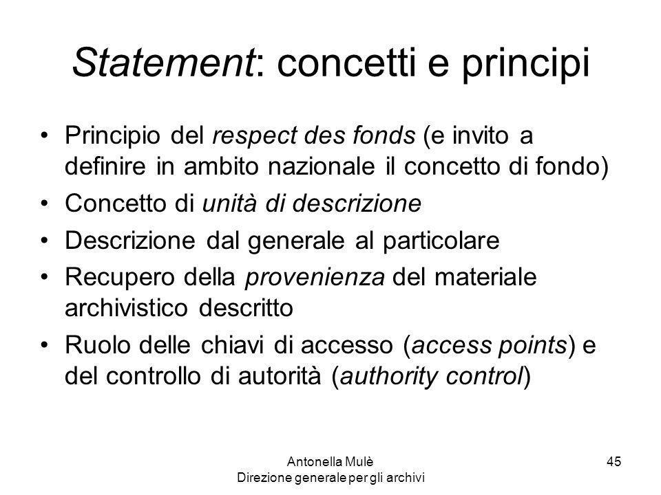 Statement: concetti e principi
