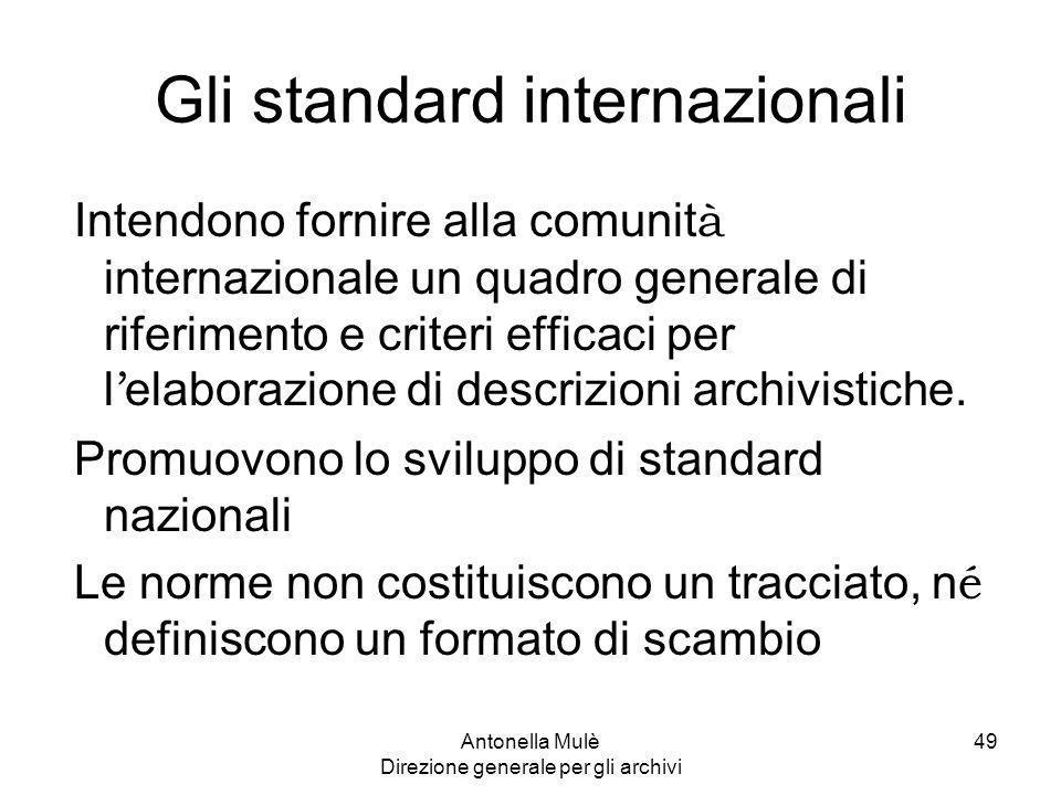 Gli standard internazionali