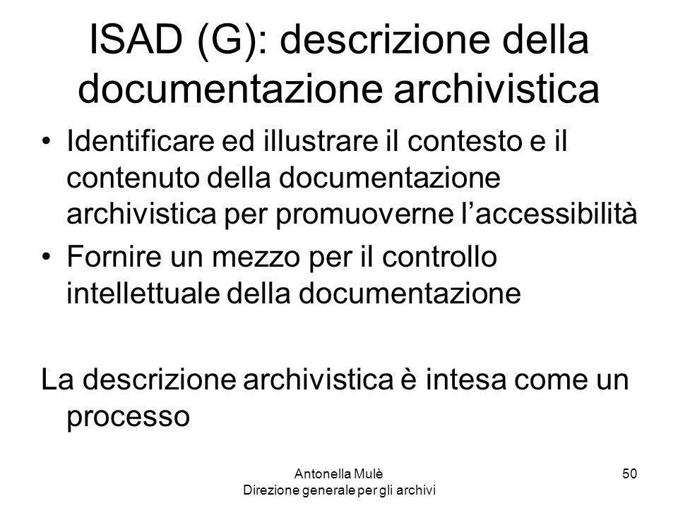 ISAD (G): descrizione della documentazione archivistica