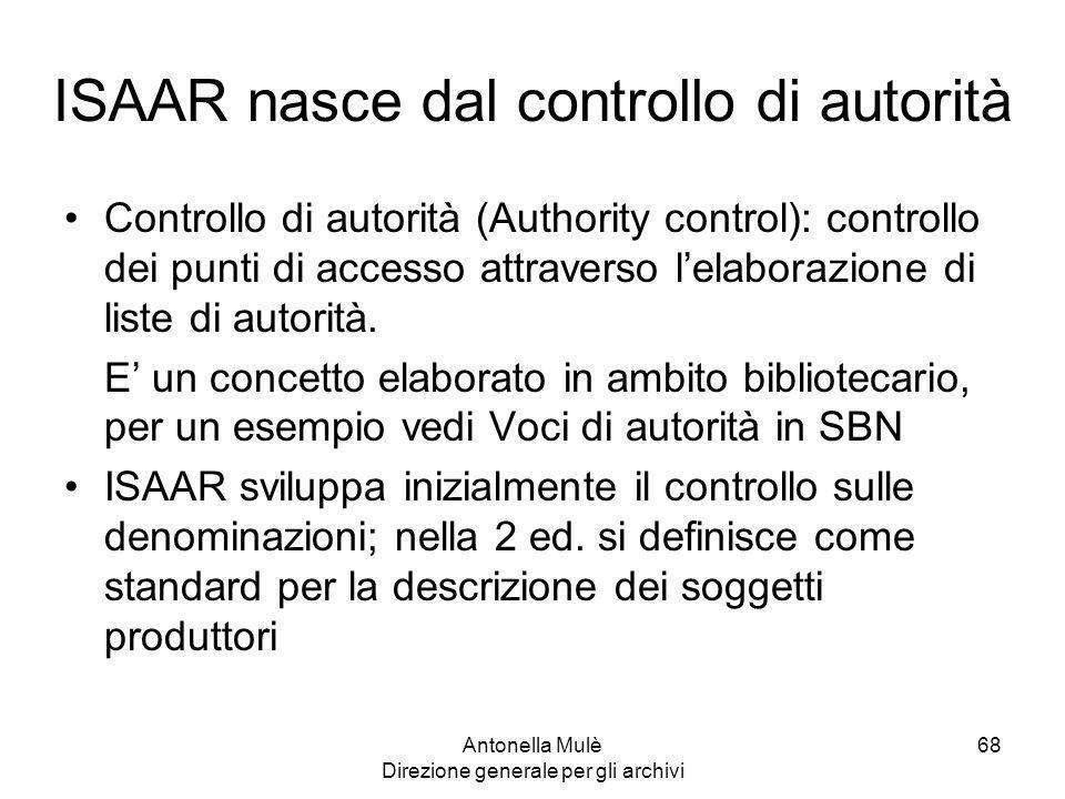 ISAAR nasce dal controllo di autorità