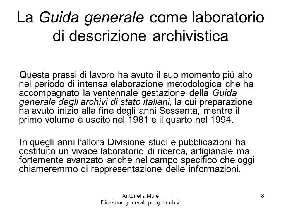 La Guida generale come laboratorio di descrizione archivistica