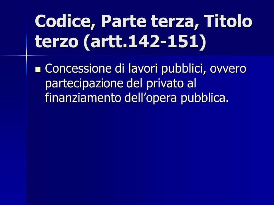 Codice, Parte terza, Titolo terzo (artt.142-151)