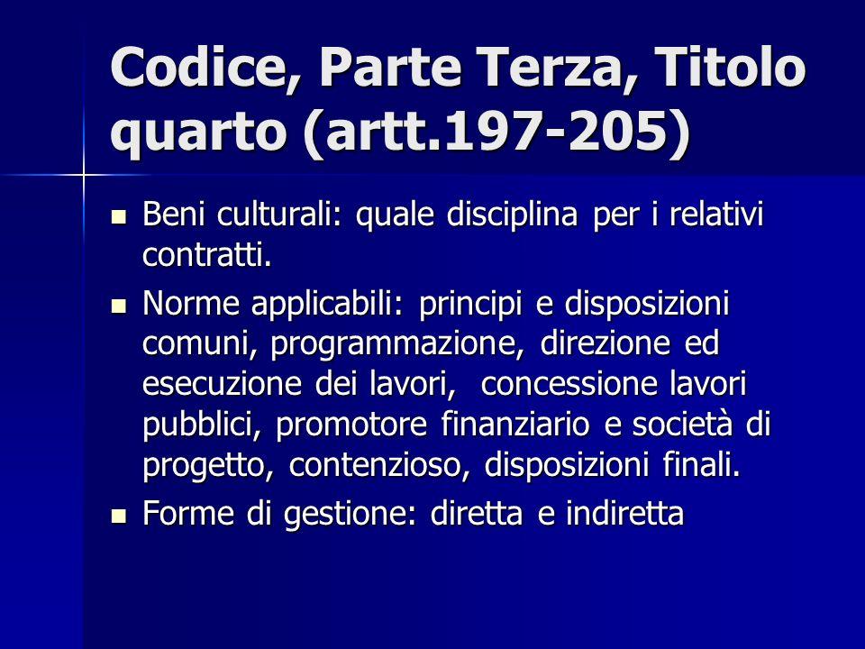 Codice, Parte Terza, Titolo quarto (artt.197-205)