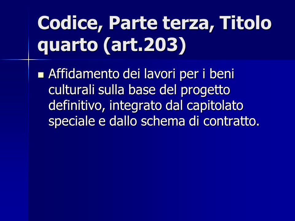 Codice, Parte terza, Titolo quarto (art.203)