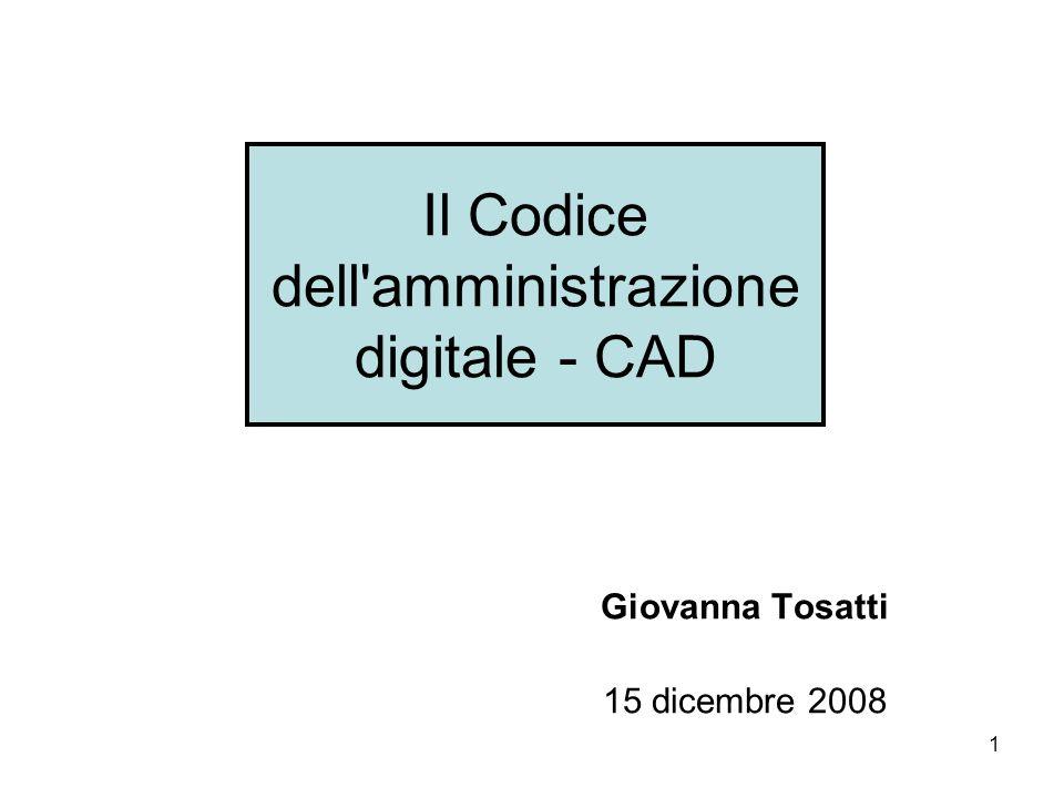 Il Codice dell amministrazione digitale - CAD