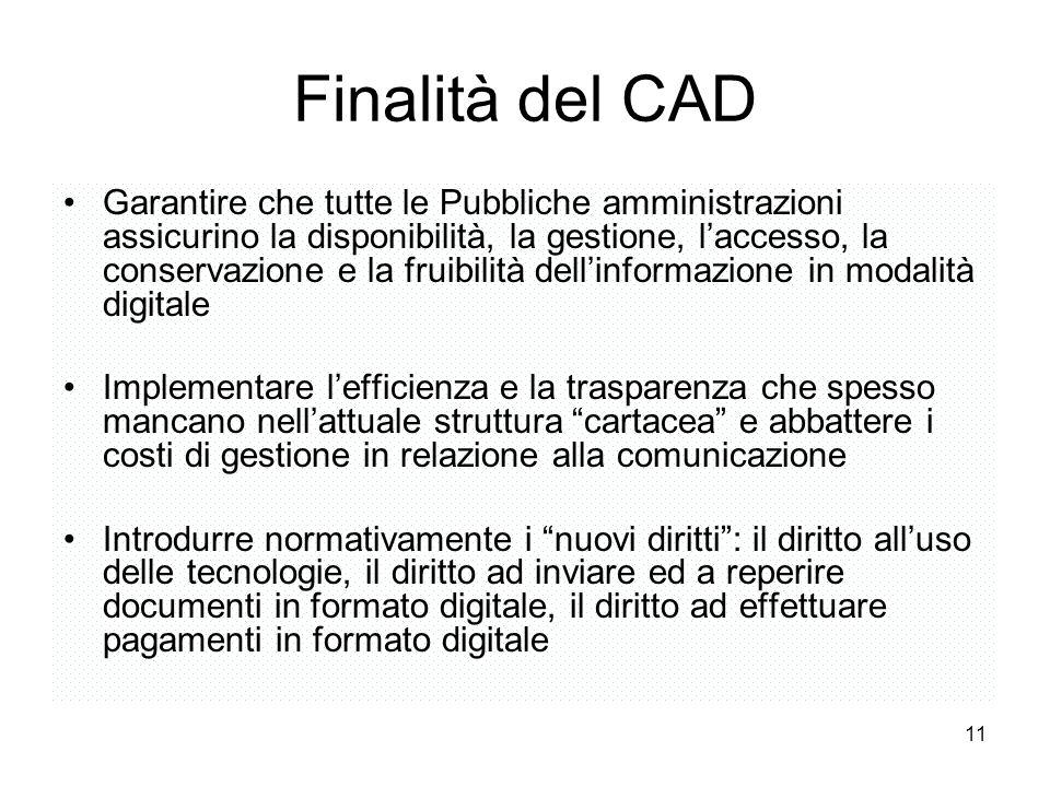 Finalità del CAD