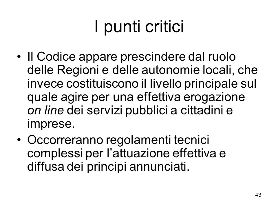 I punti critici