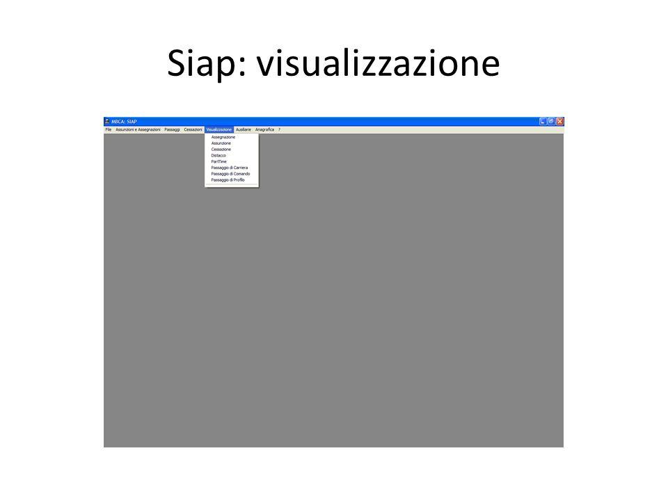 Siap: visualizzazione