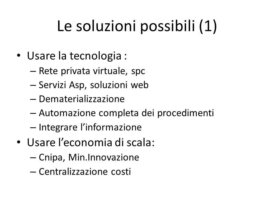 Le soluzioni possibili (1)