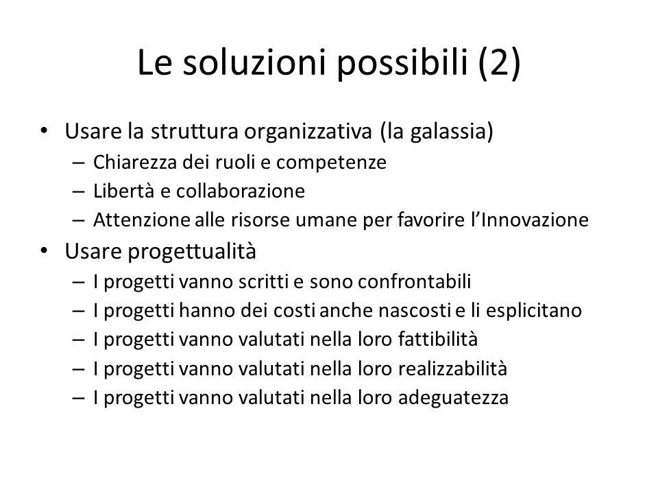 Le soluzioni possibili (2)