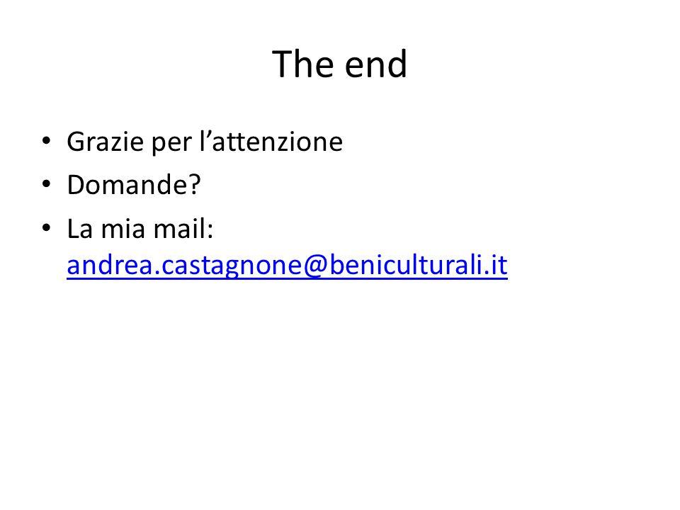 The end Grazie per l'attenzione Domande