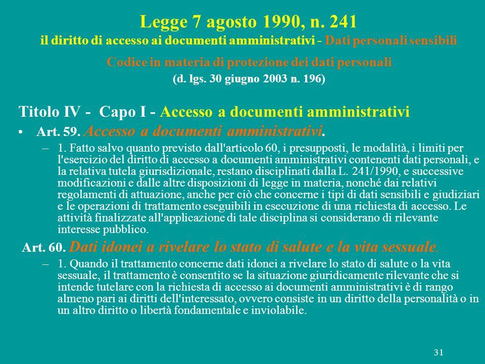 Codice in materia di protezione dei dati personali